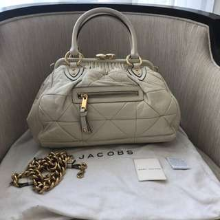 Marc jacob All Leather Ivory With Chain Strap
