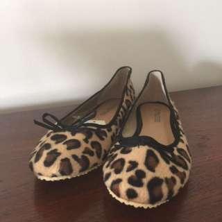 豹紋平底鞋