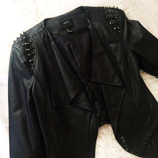 Forever 21 Cropped Leather Jacket