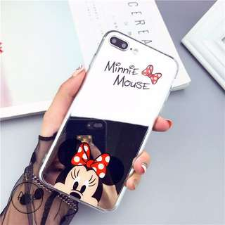 Mirror Minnie And Mickey iPhone Casing
