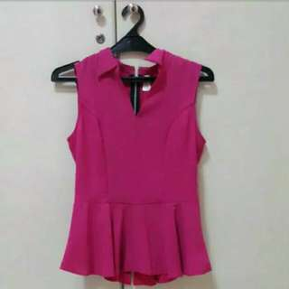 Pink Sugar Peplum Top