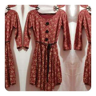 REPRICED! Pre-loved Brown Floral Dress
