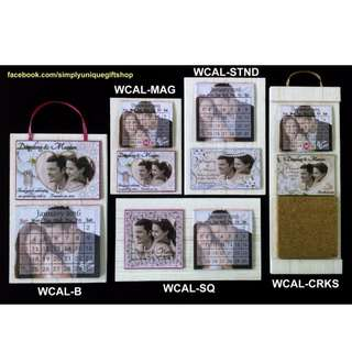 Personalized Ref Magnet Wedding Giveaway Calendar Wedding Souvenir