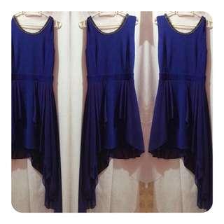 REPRICED! Pre-loved Deep Blue Dress