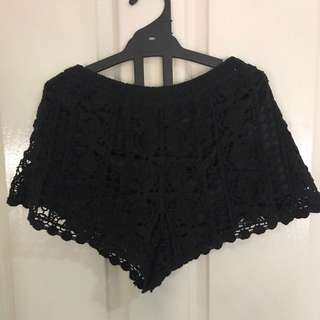 Handmade Lace Crochet Shorts