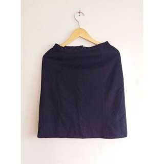 Liano Dark Blue Office Skirt