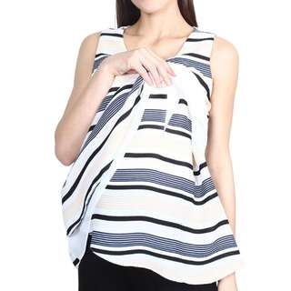 9months Maternity - Off White Layered Nursing Blouse