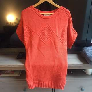 NWOT Red Orange Knit Dress