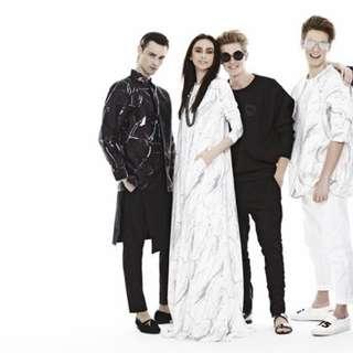 Rizalman For Zalora White Marble Dress