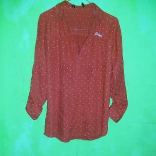 Blouse Polka Red
