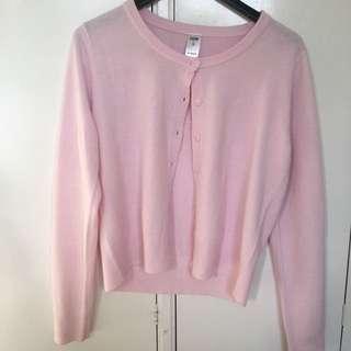 Target L Pastel Pink Cardigan