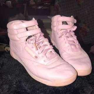 Vintage Reebok London Baby Pink High Tops