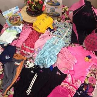 A Lot Of Girls Swimming Stuff, Bikini, Swimsuit And More