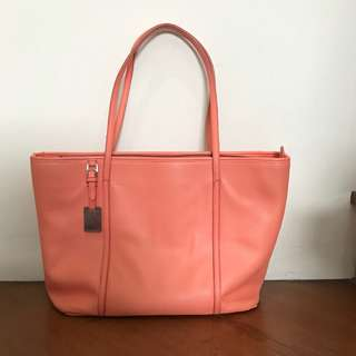 Charles & Keith - Tote Bag Peach [100% Original]