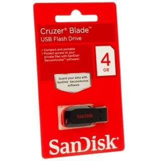 SANDISK CRUZER BLADE 4GB PEN DRIVE