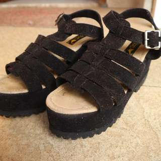 Black Wedges By Adorable
