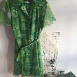 Vintage Green Dress Size 12
