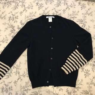 Comme Des Garcons - Navy Wool Cardigan - Medium