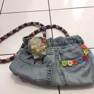 Jeans sling bag