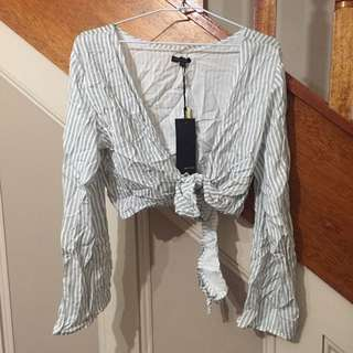 NWT Striped Crop Top 10