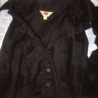 Cue Black Work Shirt Blouse