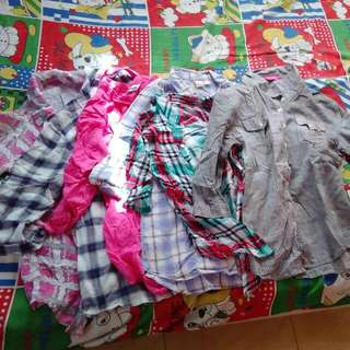 FREE SHIPPING! Pre-loved Flannels/ 3/4 Blouses