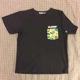正品 香港 XLARGE 迷彩 口袋 側標 潮牌 夏季 棉質 上衣 躍勝 大猩猩 BAPE Ape ( 近全新 吊牌保留 )