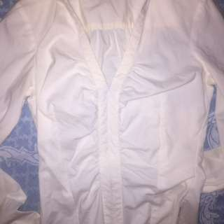 Cue Shirt White Work Blouse