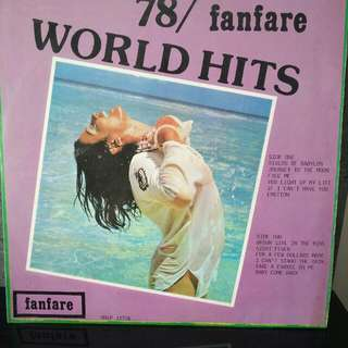 L.P Fanfare World Hits 78""