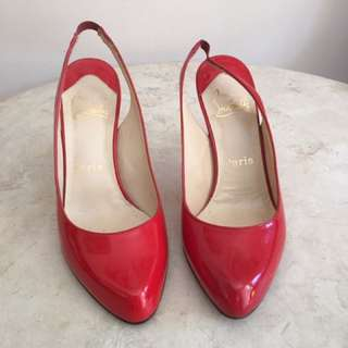 REPRICE Preloved Authentic Christian Louboutin sling shoes