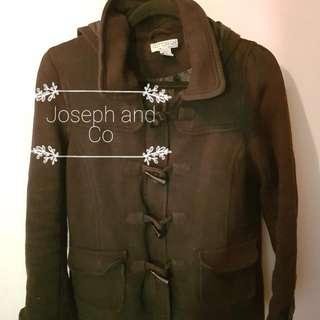 COTTON ON Black Duffle Coat Size L