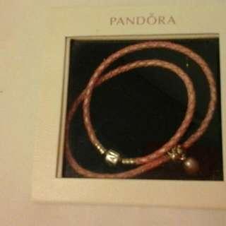 Pandora Pink Leather Bracelet