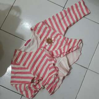 Pink Stripe Jacket For Girl (New)