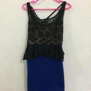 Blue Lace Party Dress