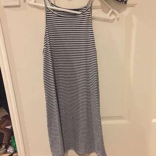 Tight Halter Neck Stripey 90's Dress
