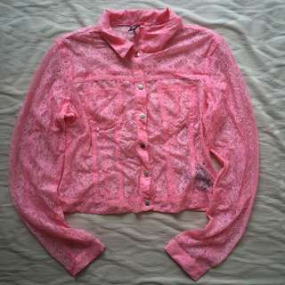 H&M Divided – Lace Pink Blouse