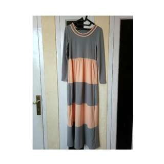 Barleen Maxi Long Dress (gamis Tanpa Khimar)