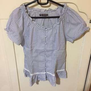 P.P.F.M 藍條襯衫 Dazzlin EMS shirt