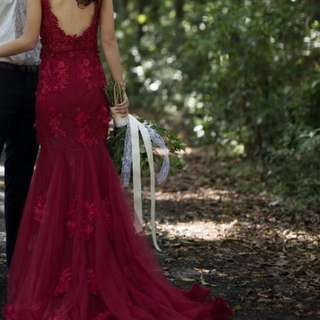 Red Wedding Dress < Size S>