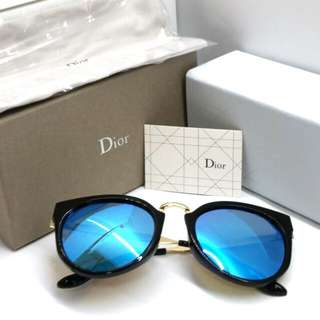 dbdbed289aff Authentic DIOR Sunglasses + Original Box Case Cloth Card 8030 Blue