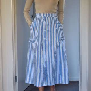 Striped Midi Skirt - Size 6