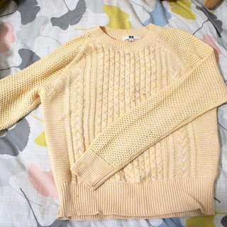 Uniqlo Yellow Sweater NEW
