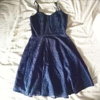Blue Crochet Dress Cotton On
