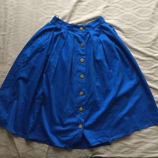 Mango – Blue Midi Skirt
