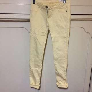 日本品牌 RecHerie 淺黃鉛筆褲 Pants Moussy Sly