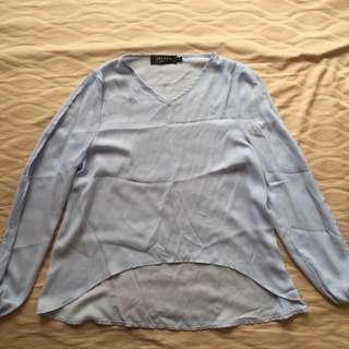 Zalora – Basic Cape Sleeve Blouse
