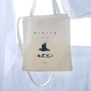 Bird x Fish Design Canvas Tote Bag