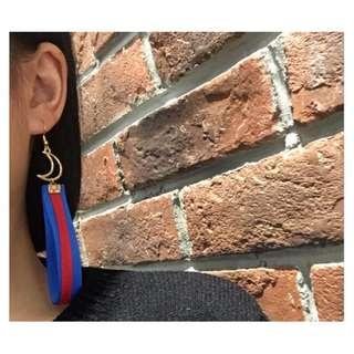 月亮緞帶耳環
