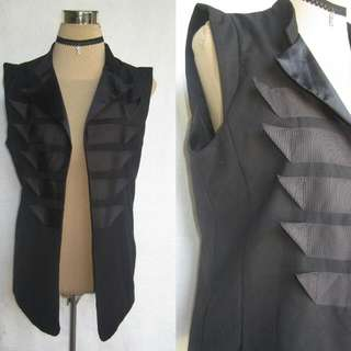 Black Fashion Vest