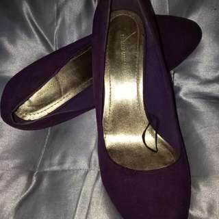 Re-priced!!! H&M Purple Suede Pumps